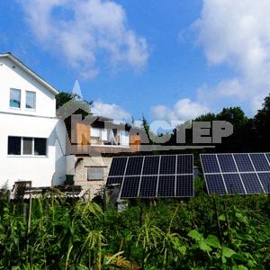 установка солнечных батарей на даче