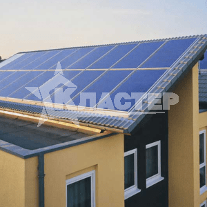 установка солнечных батарей на доме