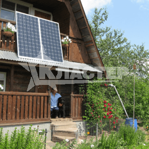 установка солнечных батарей в деревне