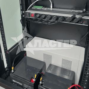Телекоммуникационный шкаф с источником бесперебойного питания и сетевым nvr dahua