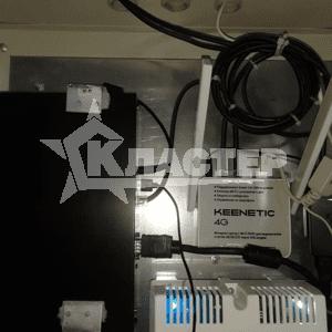 Установка сетевого видеорегистратора в шкаф и подключение его к источнику бесперебойного питания